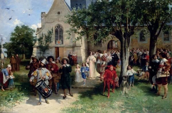 Jacomin Alfred Louis Vigny The Baptism